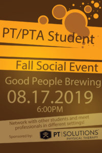 PT/PTA Student Fall Social Event @ Good People Brewing